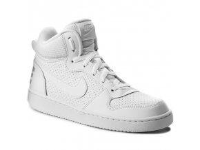 Nike Court Borough mid GS 839977 100 bílá