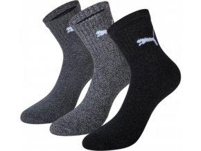 Puma Crew 3 páry ponožky 231011001 šedá