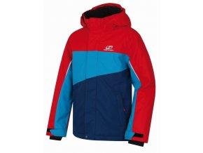 Dětská zimní bunda Hannah Majlo racing red/ caribbean sea
