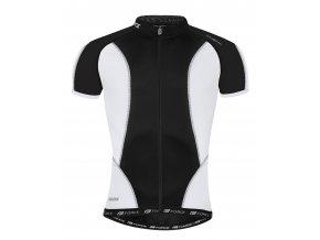 Pánský cyklistický dres Force T12 černo-bílý 900106
