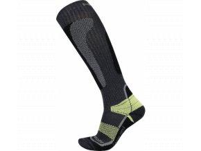 Husky Snow wool  lyžařské ponožky zelená