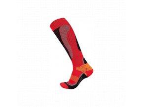 Husky Snow wool  lyžařské ponožky červená
