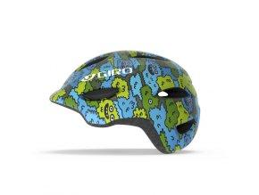 Cyklistická přilba Giro Scamp blue/green creature camo