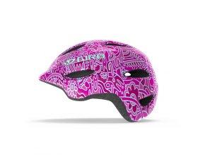 Cyklistická přilba Giro Scamp pink flower land