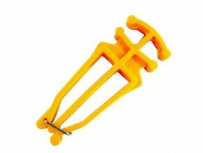 Nosič běžek a hůlek žlutá barva