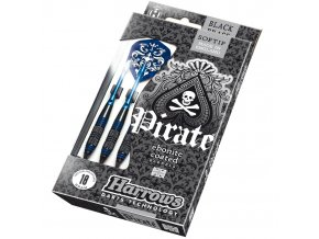 Harrows Šipky Pirate soft 16g modré
