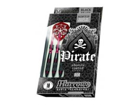Harrows Šipky Pirate soft 18g červené