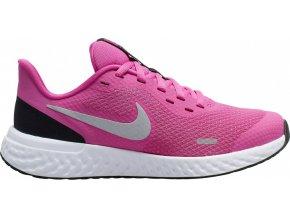 Nike REVOLUTION 5 GS BQ5671 610 tmavě růžová