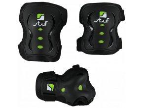 Sada chráničů Stuf Advanced černá /zelená