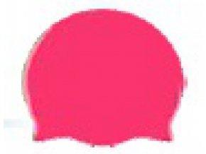 Stuf Juniorská Silikonová plavecká čepice tmavě růžová
