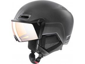 Lyžařská helma Uvex Hlmt 700 visor - black mat