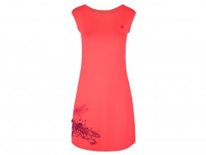 Loap MINON dámské spotovní šaty růžové