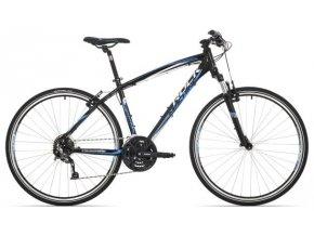 Kolo Rock Machine Crossride 350 velikost L black/white/blue 2018