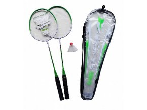 Badmintonový set Acra 2 pálky + košíček + pouzdro