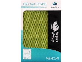 Rychleschnoucí ručník Aquawave Menomi tender shoots/ dark grey