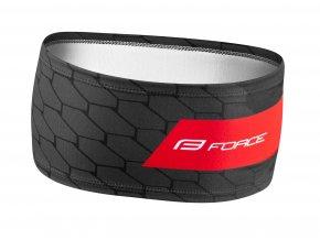 čelenka force fit sportovní černo-červená 903162