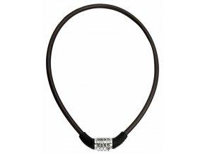 Zámek lanko MAX1 650x8 mm černý kódový