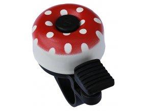 Zvonek MAX1 mini puntíky červená