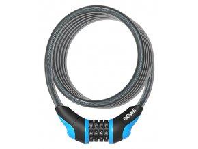 Zámek ONGUARD spirála 1800x10 mm kódový modrý