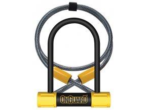 Zámek ONGUARD Bulldog podkova 90x140x13 mm + lanko 1200x10 mm
