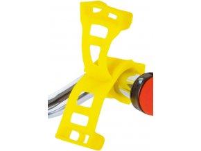 Držák silikonový ROTO pro mobil a navigaci žlutý