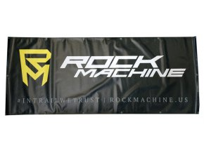 Banner ROCK MACHINE vrstevnice černo/žlutý