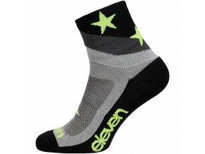Ponožky ELEVEN Howa Star Grey vel. 2- 4 (S) šedé/černé/žluté