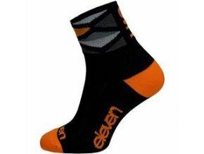 Ponožky ELEVEN Howa Rhomb Orange vel. 5- 7 (M) černé/orange