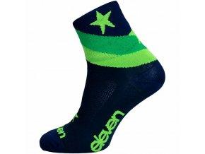 Ponožky ELEVEN Howa Star Blue vel.11-13 (XL) modré/zelené