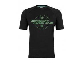 Dres ROCK MACHINE Enduro černo/zelený vel.XL