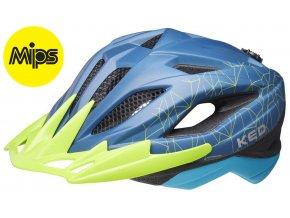 Přilba KED Street Junior MIPS M blue green 53-58 cm