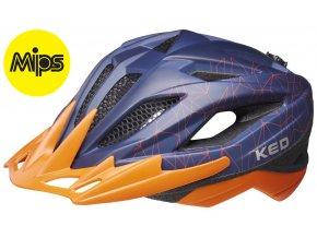 Přilba KED Street Junior MIPS M blue orange 53-58 cm