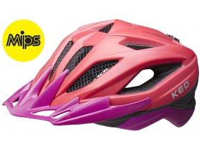 Přilba KED Street Junior MIPS M red violet matt 53-58 cm