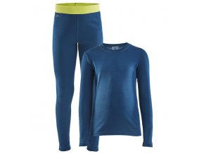 set craft core warm baselayer junior tmave modra