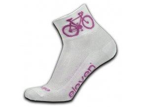 Ponožky ELEVEN Howa ROAD vel. 2-4 (S) bílé/růžové