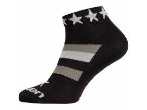 Ponožky ELEVEN Luca STAR WHITE vel. 8-10 (L) černé/bílé