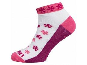Ponožky ELEVEN Luca FLOVER PINK vel. 5- 7 (M) růžové/bílé/fialové