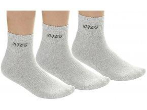 Ponožky Hi-tec quarro pack JR grey melange