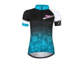Force Rose černo - modrý  9001341 Dámský cyklistický dres