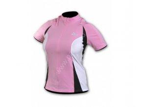 Rogelli Vittoria růžovo bílý Dámský cyklistický dres