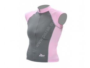 Rogelli Muravera šedo růžová Dámský cyklistický dres