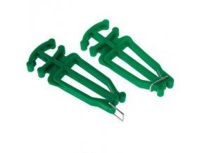 Nosič běžek a hůlek zelená barva 1 pár