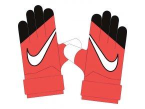 Brankářské rukavice nike GK match  červená/černá/b