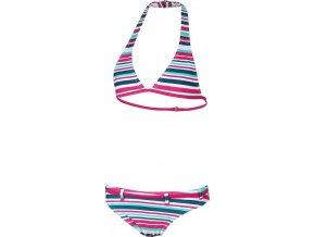 Dívčí plavky  Stuf Curacao proužek tm. růžová