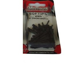 Hroty Harrows micro soft 2b black  30 ks