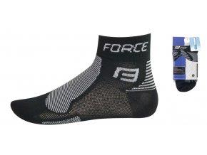 Ponožky Force 1 černo šedé 901018
