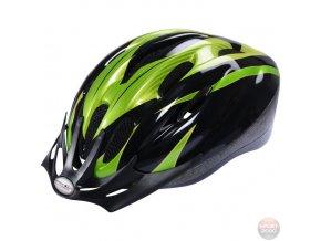 Cyklistická helma High Colorado V-10 N Sport zelená/černá/bílá
