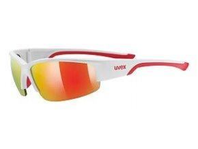 Uvex Sportstyle 215 bílá/červená zrcadlová