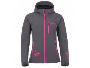 Dámská softshellová bunda Kilpi Elia grp šedá s růžovou