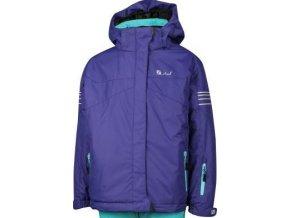 Dětská zimní bunda STUF Lucy fialová/světle tyrkysová